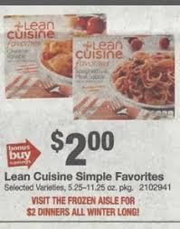 insert cuisine stop shop 1 22 1 28 lean cuisine frozen dinners only 1 50