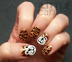 tiger nail art re visited the little canvas