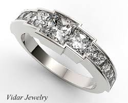 channel set wedding band channel set diamond wedding band for womens vidar jewelry