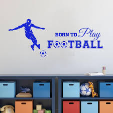 football quotes picture more detailed picture about born to play born to play football quotes wall stickers sports wall sticker fashion home art mural for boys