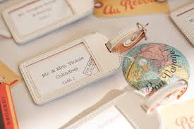 luggage tags favors 20 great wedding favors for destination weddings everafterguide