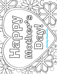 mother s day coloring sheet happy s day free coloring page printable for