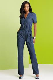 sleeve denim jumpsuit sleeve denim jumpsuit metrostyle