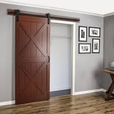 Erias Home Designs Top Of Door Sliding Barn Door Hardware by Erias Home Designs Continental Mdf Engineered Wood 1 Panel Cherry