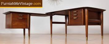 Modern L Shape Desk Century Modern L Shaped Executive Desk