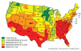 weather usa map tim burr s weather today s pollen map subzero cold late