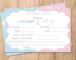 baby shower guessing due date guess card etsy
