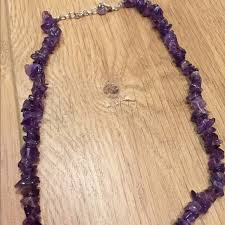 purple stone necklace images Jewelry purple stone necklace poshmark jpg