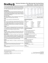 Toilet Partition Brackets Material Specifications