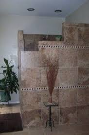 shower idea half wall no door u2026 pinteres u2026