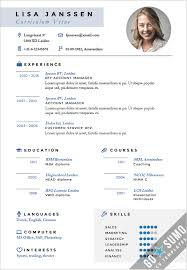 example of cv layout resume sample template