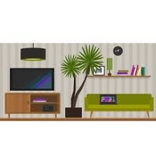 modern living room with furniture royalty free vector image