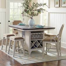 kitchen island tables with stools avalon furniture mystic cay 7 kitchen island table set