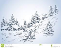 winter scene stock vector image 63169604