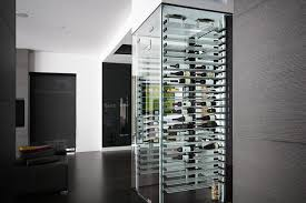 glass wine cellar in the living room 8 contemporary wine
