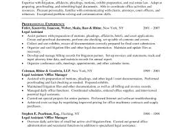 resume fabulous legal resume one page marvelous attorney resume