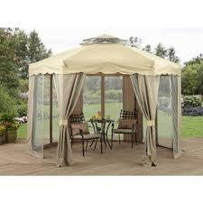 Outdoor Patio Canopy Gazebo Retractable Sun Shade Gazebo Awning Kit Patio Canopy 12