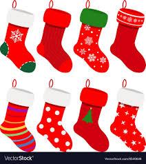 christmas socks set of christmas socks royalty free vector image