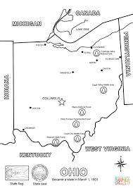 Ohio City Map by Ohio Map Coloring Page Free Printable Coloring Pages