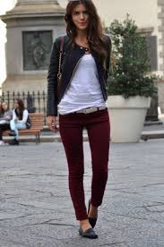 Plum Skinny Jeans I U0027m Totally Loving Simple On Pinterest Today A Classic