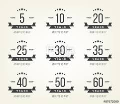 40th anniversary color vector set of anniversary signs symbols 5 10 20 25 30 35 40