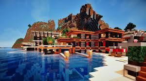 Maison Modern Minecraft by Minecraft Maison Moderne Sur Falaise 2 3 Youtube