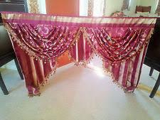 hollywood regency swag l hollywood regency striped curtains drapes valances ebay