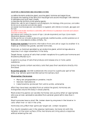 revision cover letter ocr biology module 2 hormones and excretion f214 notes