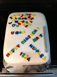 fridge u0026 magnet alphabet 40th birthday cake cake by tanya morris