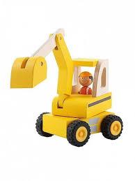 sevi wooden excavator toy u2013 little luna blue