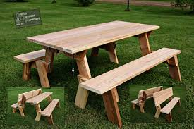 Folding Table And Bench Set Large 72