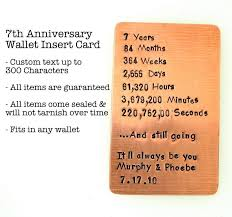 wallet insert card sted copper personalized up to