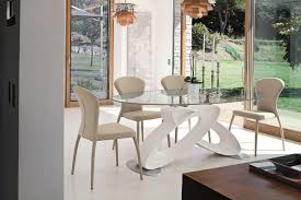 tavoli per sale da pranzo tavolo con piano in vetro temperato per sale da pranzo idfdesign