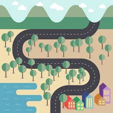 map vector to create a flat style vector map in adobe illustrator