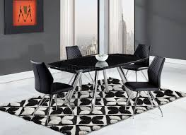 modern glass dining table quilted d2320 dining table by global w black glass top options
