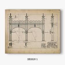 Home Decor Stores In Pittsburgh Pa Pittsburgh Art Smithfield Street Bridge Blueprint Prints