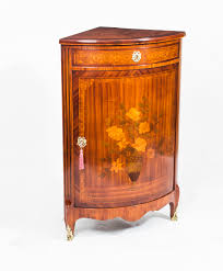 Antique Corner Curio Cabinet Antique Rosewood U0026 Satinwood Marquetry Low Corner Cabinet C 1860