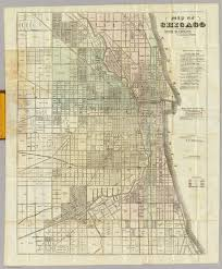 Street Map Of Downtown Chicago by Map Of Chicago David Rumsey Historical Map Collection