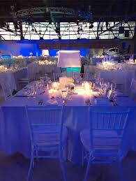 chair rental cincinnati wedding reception in an airplane hanger at lunken airport in