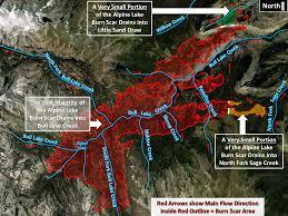 Wyoming Wildfires Map Alpine Lake Burn Scar Information