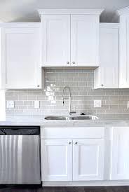 kitchen with subway tile backsplash creative white tile backsplash smoke gray glass subway tile white