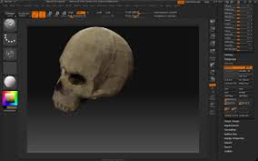 labicyclette making a skull in zbrush texturing