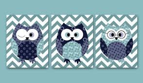 Baby Boy Wall Decor Kids Wall Decor Owl Decor Owl Nursery Baby Boy Nursery Decor