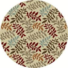 Round Modern Rug by Well Woven Barclay Arcs And Shapes Ivory 5 Ft 3 In Modern