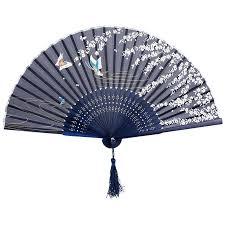 japanese folding fan 2016 1pcs japanese flower floral fabric folding fan