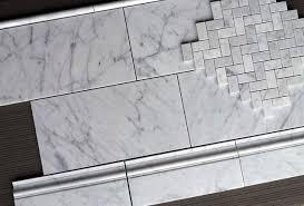 White Carrera Marble Bathroom - 8 95sf carrara 8x16