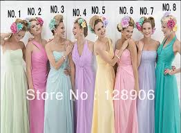 compare prices on rainbow colored bridesmaid dresses online