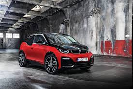 electric cars bmw bmw i3 orange exterior front side view green machine a