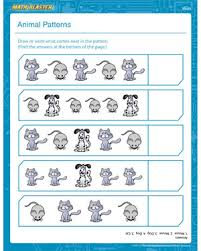 animals patterns u2013 printable 1st grade math worksheet u2013 math blaster