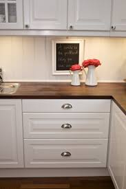 25 best walnut countertop ideas on pinterest wood countertops love the dark butcher block with white cabinets and the draw pulls hate the knobs on doors butcher block counter tops with beadboard background diy